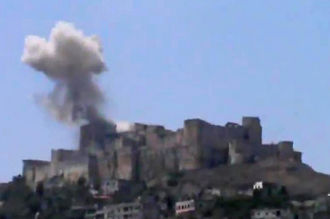 Crac des chevaliers hit bu air strike
