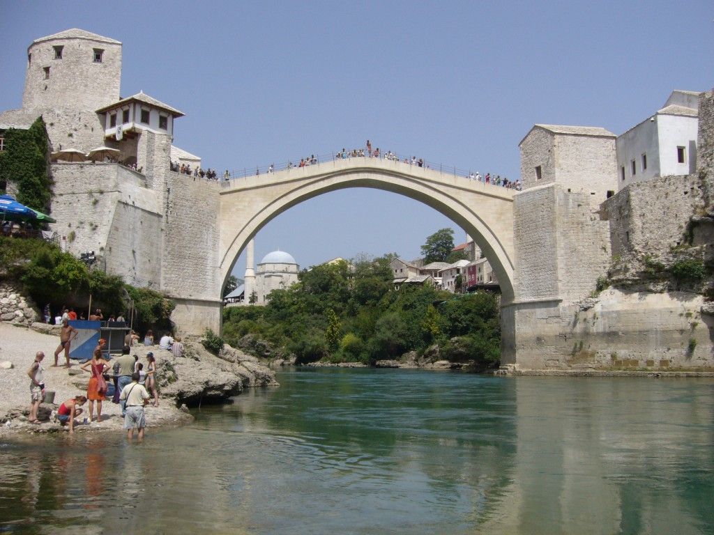 The reconstructed bridge at Mostar