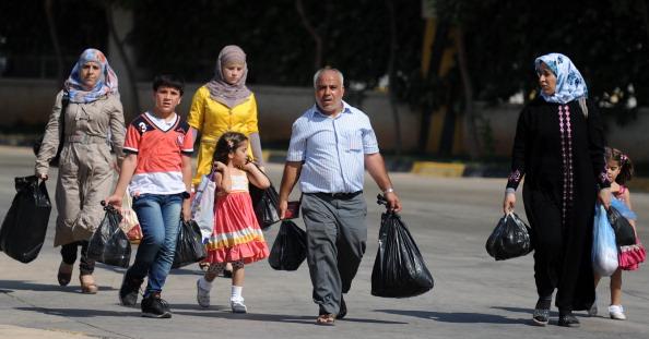 الاضطرابات-اللاجئين TURKEY-SYRIA-