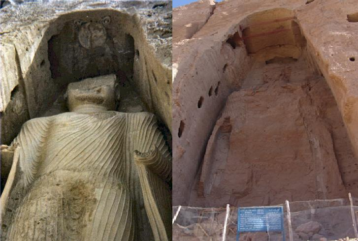 The Buddhas of Bamiyan were destroyed by the Taliban in 2001
