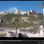 Click here for the video of the shelling of Qal'aat al-Madiq Citadel, 29 March 2012