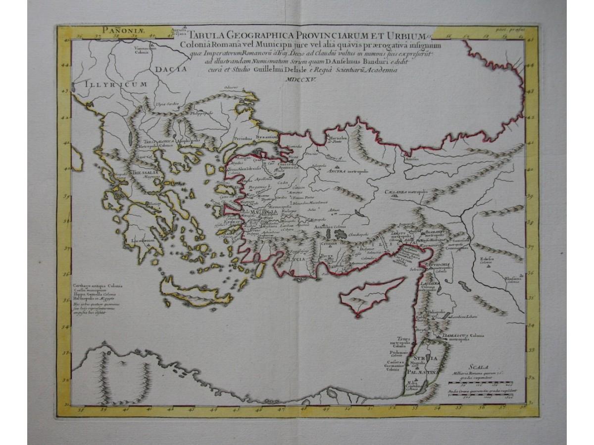 Early history heritage for peace classical roman antique map turkey greece syria delisle gumiabroncs Images