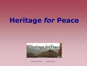 Presentation Heritage for Peace